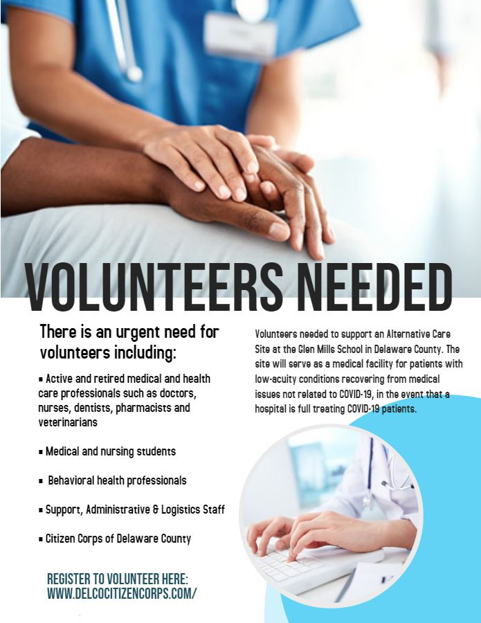 Alternative Care Facility Volunteers